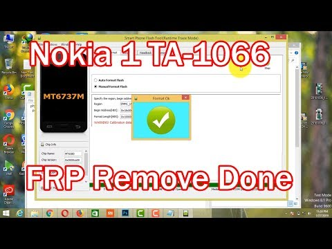 Nokia 1 TA-1066 FRP Remove 8.0 9.0 By SP Tool Scatter File  