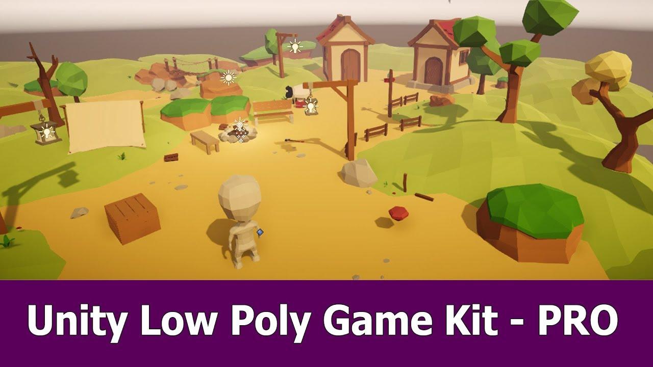 Unity Low Poly Gamekit PRO Asset