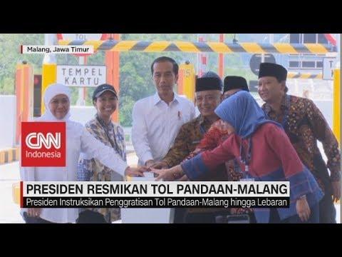 Jokowi Resmikan Jalan Tol Pandaan-Malang Seksi I-III