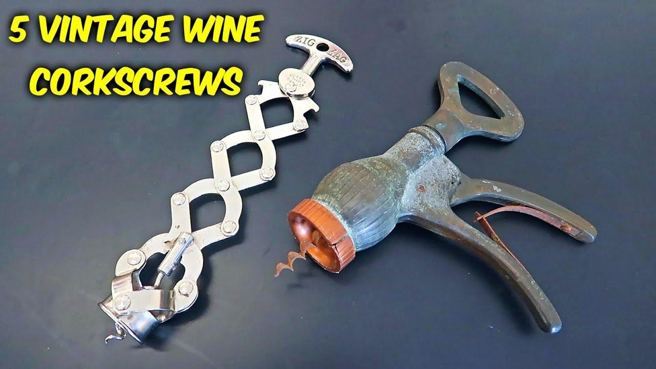 5 Vintage Wine Bottle Openers