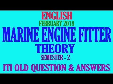MARINE ENGINE FITTER SEMESTER 2 FEBRUARY 2018 ITI QUESTION ANSWERS