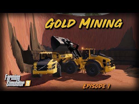 GOLD MINING FS19! - Timelapse - Mining & Construction Economy Map