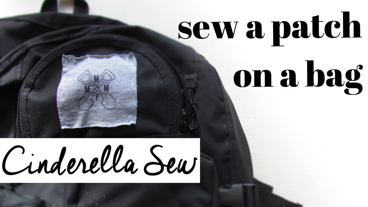 Sew a patch on a bag - How to put patches on a backpack - Easy DIY tutorial