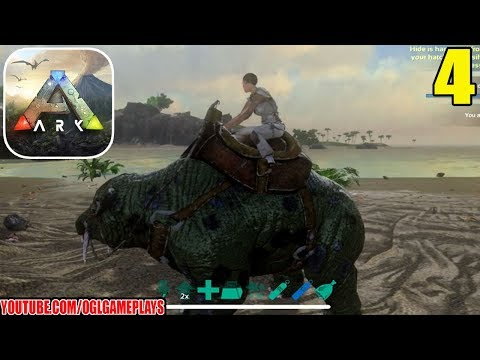 ARK: Survival Evolved Mobile Gameplay #4 - Riding Phiomia (iOS Android)