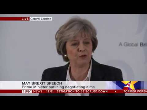 Theresa May BREXIT SPEECH FULL | 17Jan17