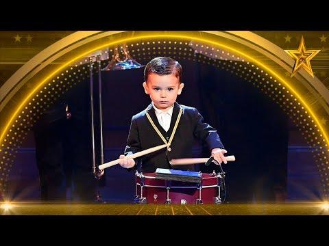 ¡Tiene 3 AÑOS! ¡PASE De ORO Para HUGO MOLINA Y Su TAMBOR! | Semifinal 1 | Got Talent España 5 (2019)