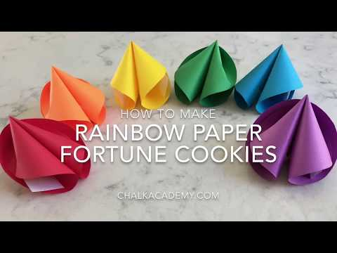 How To Make Rainbow Paper Fortune Cookies!
