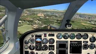 Cessna 340 Carenado landing LELL FSX