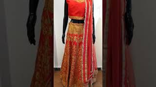 Orange red Bride or Bridesmaid wear