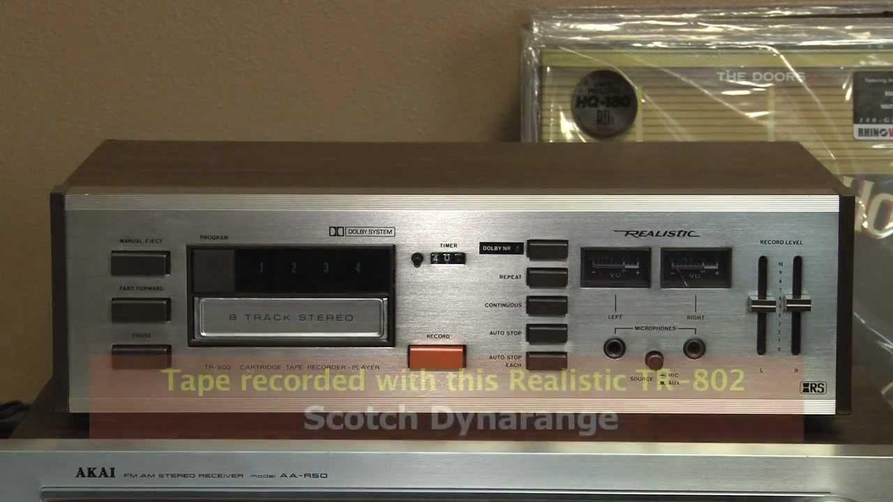 Radio Shack Realistic Tr 802 8 Track Stereo Player