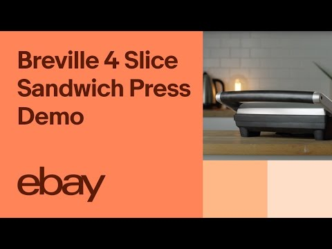 Breville The Toast & Melt 4 Slice Sandwich Press Demo | EBay Top Products