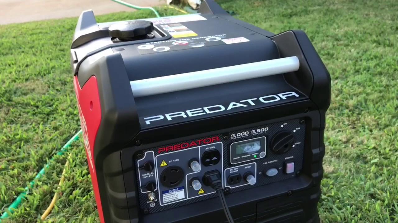 Predator 3000 3500 Watt Inverter Generator Test