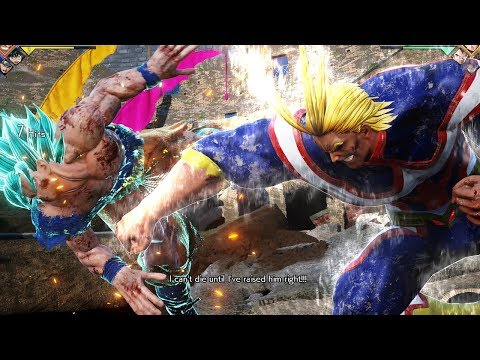 JUMP FORCE - All Might Gameplay Vs SSB Goku! UNITED STATES OF SMASH!