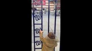 Washington Nationals Off-season with Kid Begging for Entry