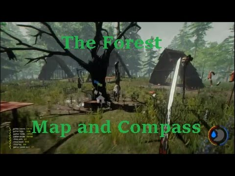 The Forest Map And Compass Location Youtube