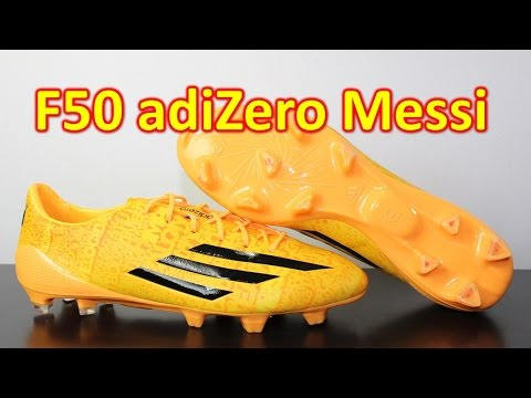 Messi Adidas F50 adizero 2014 Solar Gold - Unboxing + On Feet