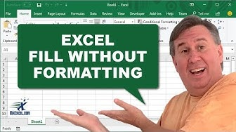 Learn Excel - Fill without Formatting - Podcast 2163