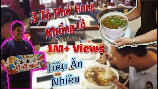 Võ Sư Liều Mạng Gọi 3 Tô Phở Hùng 200K Và Cái Kết 1 Triệu Vinh Quang | Thử Thách Phở Ông Hùng.