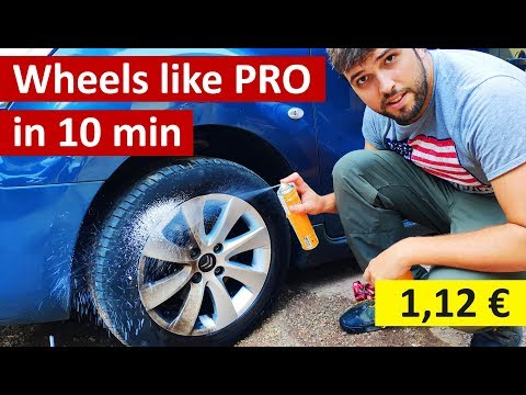 Cheapest way to clean wheels like a PRO (Under 1,5$) 🧴🚿