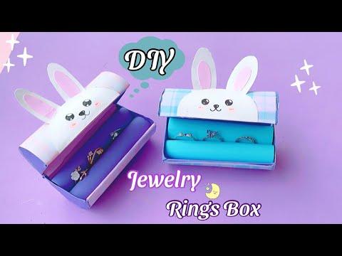 DIY - How to make Jewelry Organizer with waste Tissue Roll | Cute Organizer Tutorial | Ring Box Idea