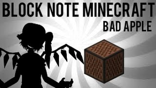 Обложка Block Note Minecraft Bad Apple