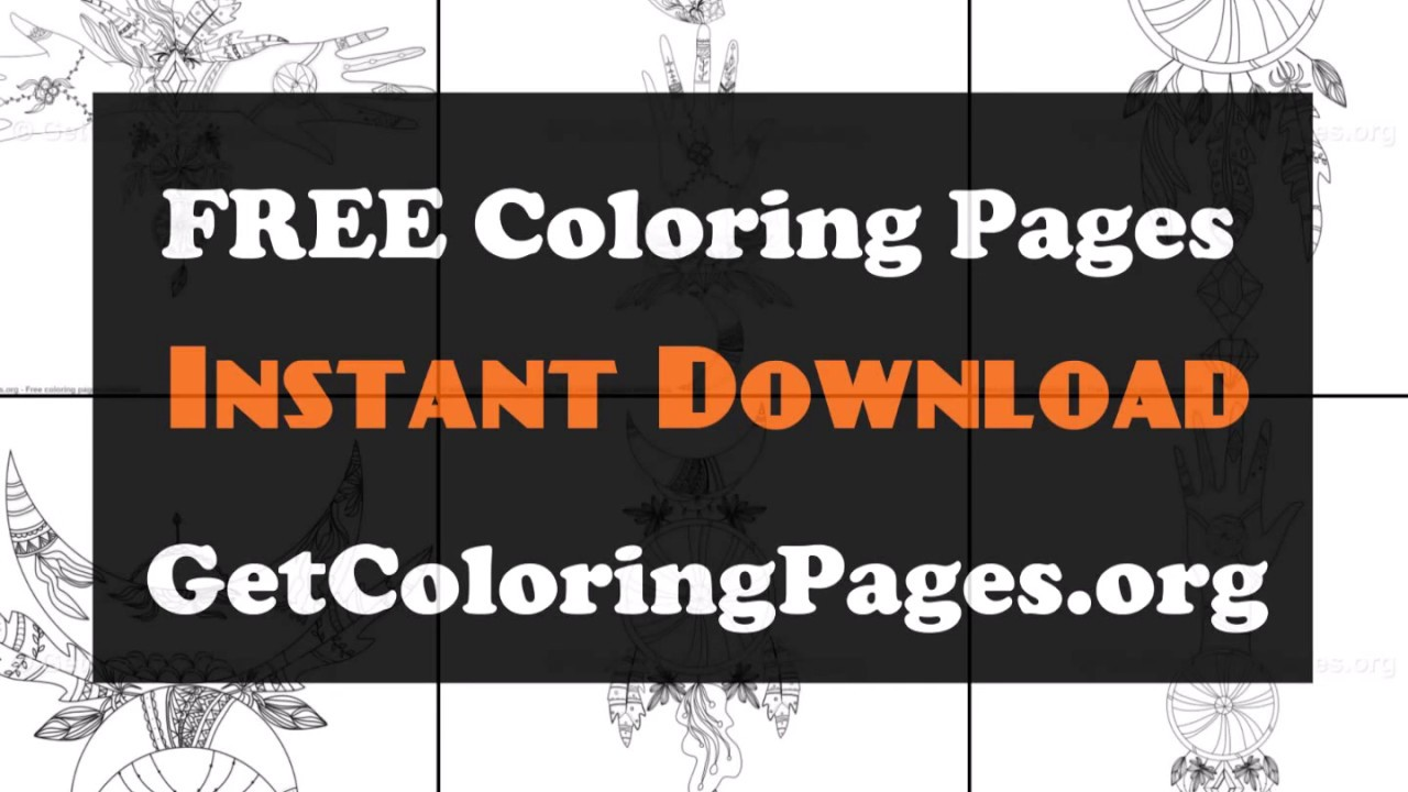 Native american dreamcatcher coloring pages - YouTube
