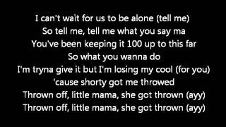 Chris Brown - Throwed  (Lyrics on screen) karaoke Exclusive