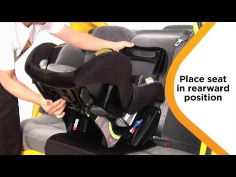 Sentinel Series II Convertible Car  Seat Rearward-Facing Installation