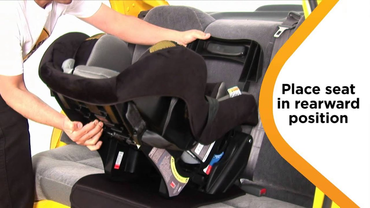 Sentinel Series II Convertible Car Seat Rearward-Facing Installation
