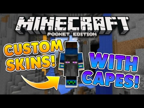 MCPE CAPES FOR ANY SKIN TUTORIAL! 0.15.9+ NO MODS Minecraft PE