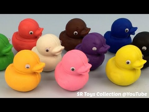 Playdough Ducks with Fruit Molds Fun and Creative for Kids