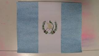 38. BANDERA DE GUATEMALA LAPSO DE TIEMPO DE ESCRIBIR   GUATEMALA FLAG WRITING TIME LAPSE