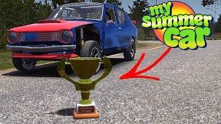 ???? Lajwidło - WIELKI FINAŁ RAJDU - My Summer Car na kierownicy - Na żywo