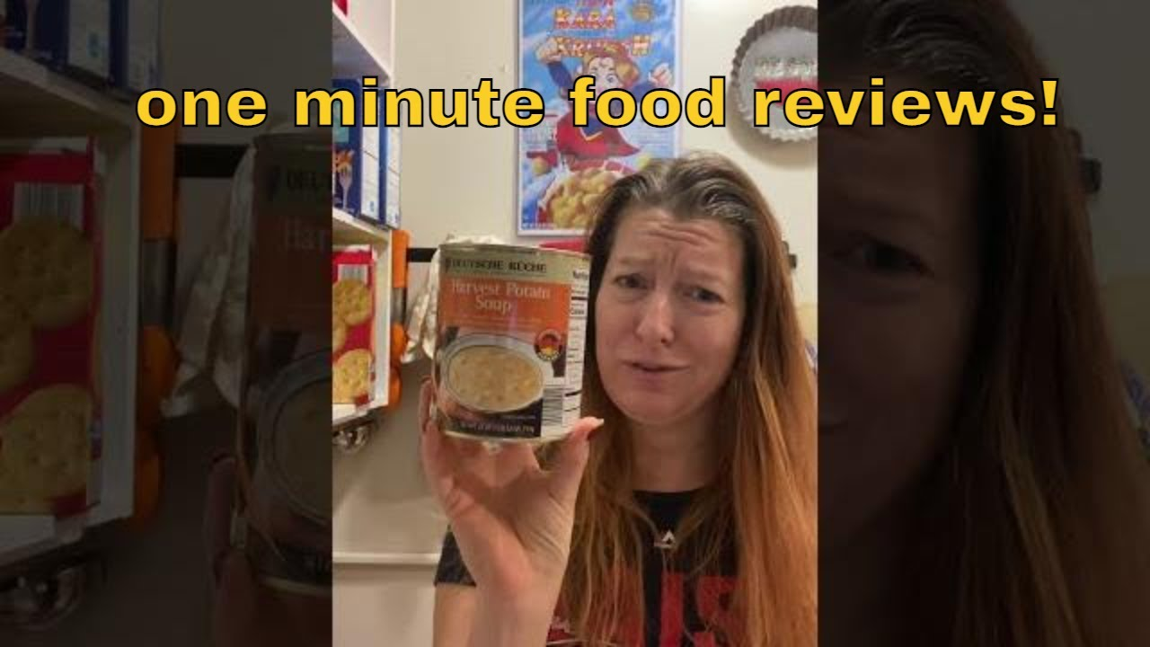 Deutsche Kuche Soup One Minute Food Review: Potato Soup From Aldi - Youtube