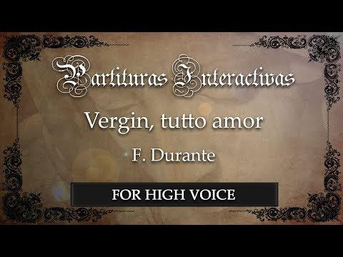 Vergin, tutto amor - F. Durante (Karaoke - Key: D minor) (Bonus track)