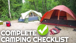Complete Camping Checklist | Everỳthing You Need for a Weekend of Camping | Camping for Beginners