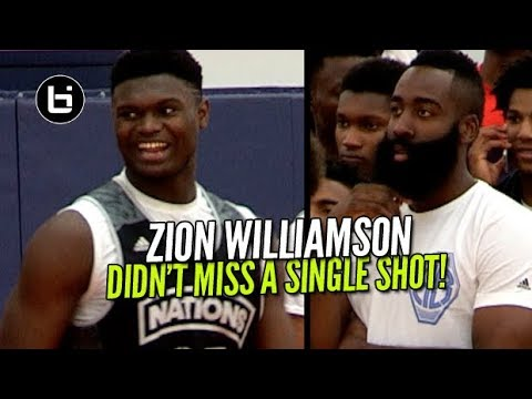 Thumbnail: Zion Williamson Didn't Miss a Shot In Front of James Harden! Adidas Nations Raw Highlights