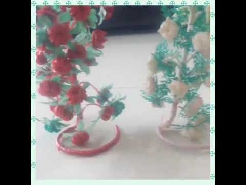 Beautiful Simple And Easy Plastic Wire Guldasta | 🍅 Tomato And Garlic Shape Guldasta | Hand Craft