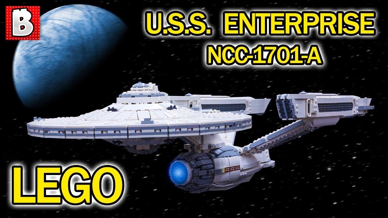 Lego U S S Enterprise Ncc 1701 A Star Trek Custom Ucs Build Youtube