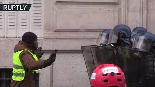 Paris Mayhem: Tear gas used, hundreds detained during Yellow Vests protest