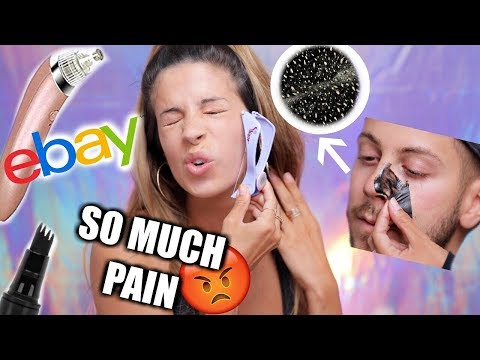TRYING VIRAL WEIRD BEAUTY PRODUCTS | EBAYS AND MORE!