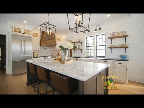 Modern Farmhouse Kitchen on Saratoga Lake, NY by Curtis Lumber Kitchen Designer Heather B.