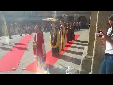 Desfile de moda castrexa y romana en Lugo