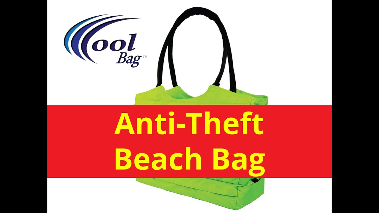 Cool Bag Locking Travel Beach Tote and Anti-Theft Beach Bag - YouTube