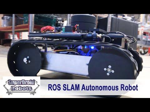Autonomous Programmable ROS SLAM Tracked Robot Package