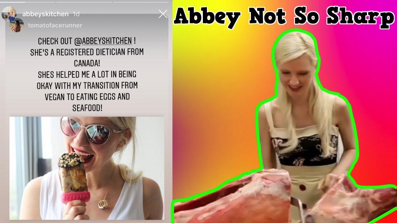 Abbey Sharp congratulates ex vegans   Abbeys Kitchen   Exposed