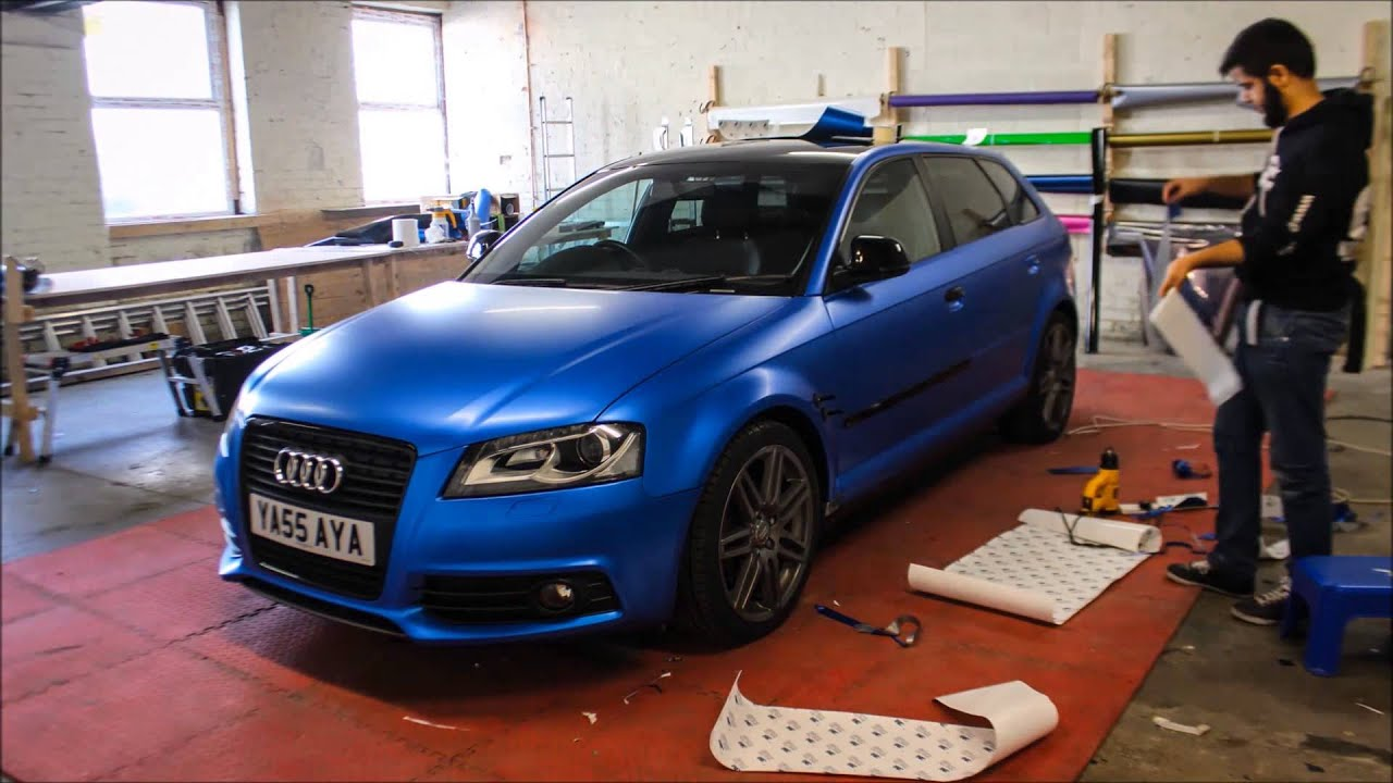Audi A3 Satin Perfect Blue Re Wrap Youtube