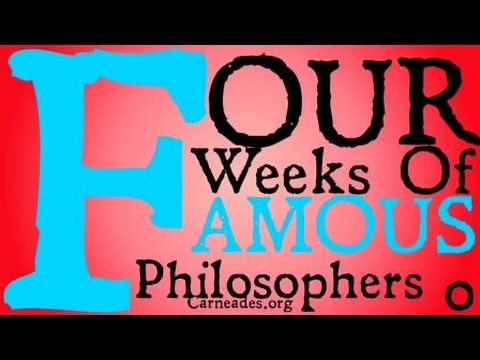 Four Weeks of Famous Philosophers