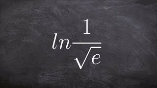 pre calculus expanding a logarithm with a rational root ln 1 root e