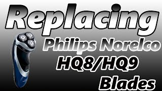 how to replace philips norelco hq8 hq9 shaver blades